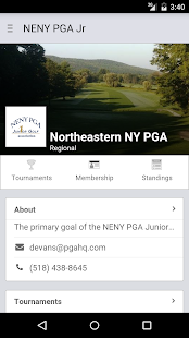 Northeastern NY PGA Jr Golf - screenshot
