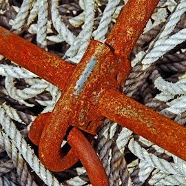 Rusty iron and rope by Michael Moore - Artistic Objects Other Objects