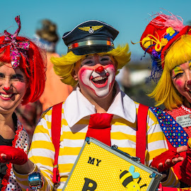 Clowns by Dave Lipchen - People Musicians & Entertainers ( clowns )