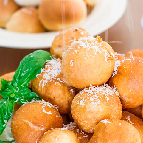 Baked or Fried Pizza Balls #Recipe