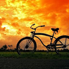 Sunset Bike by Alit  Apriyana - Transportation Bicycles
