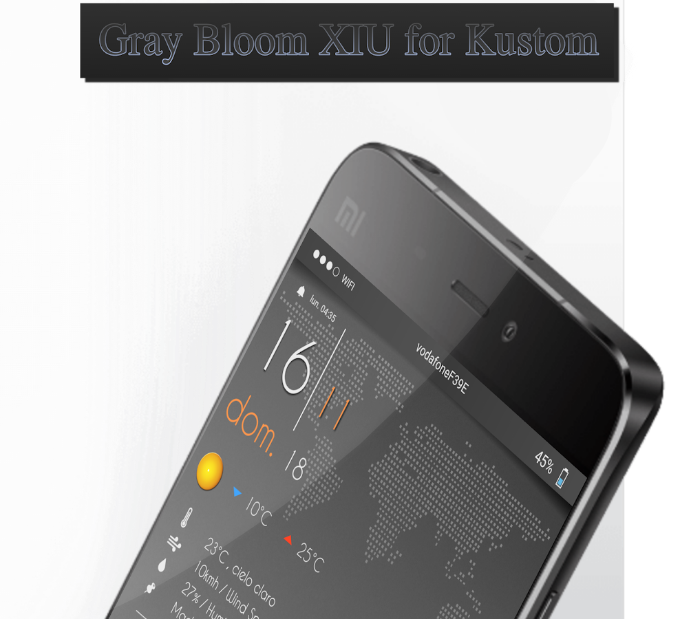 Gray Bloom XIU for Kustom/klwp Screenshot 7