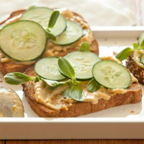 Open-Face Cucumber and Tahini Sandwiches