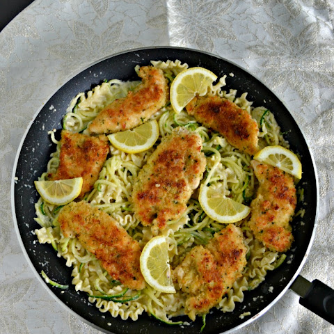 Crispy Parmesan Chicken with Creamy Lemon Pasta