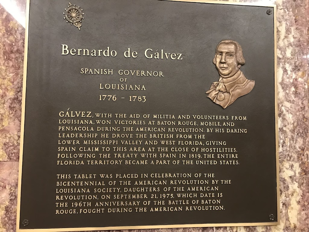 GALVEZ, WITH THE AID OF MILITIA AND VOLUNTEERS FROM LOUISIANA,WON VICTORIES AT BATON ROUGE, MOBILE, AND PENSACOLA DURING THE AMERICAN REVOLUTION. BY HIS DARING LEADERSHIP HE DROVE THE BRITISH FROM ...