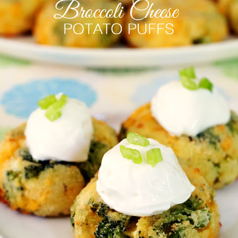 Broccoli Cheese Potato Puffs