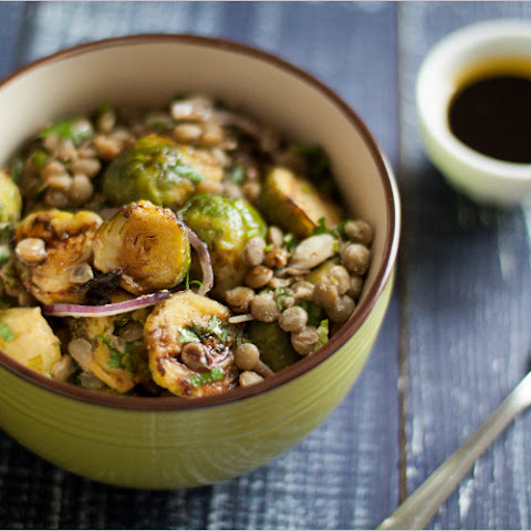 Warm Lentils and Brussels Sprouts Salad