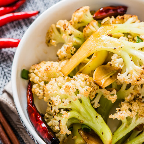 Szechuan Style Stir-Fried Cauliflower