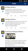 Screenshot of HAIL Michigan Athletics