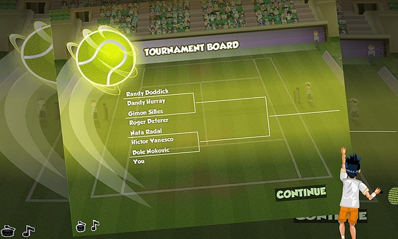 android Virtual Pro Tennis Screenshot 1
