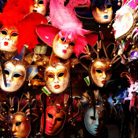 Faces by Dhannya Jacob - Artistic Objects Other Objects ( carnival, masks, venice, italy, colours, face, people )