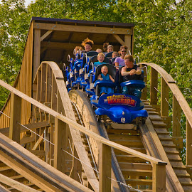 coaster for all ages by Michael Graham - City,  Street & Park  Amusement Parks ( wooden roller coaster, connecticut, amusement park, theme park, roller coaster, wooden coaster,  )