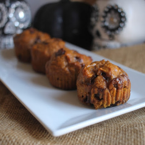 Lightened Up Pumpkin Chocolate Chip Muffins