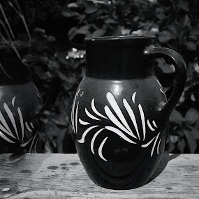 abandoned pitcher by Pavel Vrba - Black & White Objects & Still Life