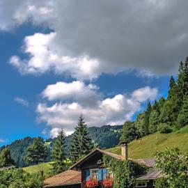 Das Haus by Jesus Giraldo - Buildings & Architecture Homes ( mountains, nature, hause, green, colors, summer, beauty, landscape, flowers, austria, alps )