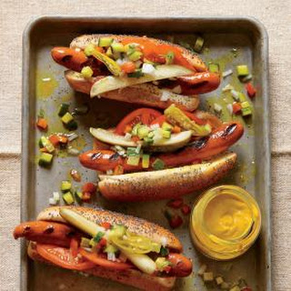 Chicago Char Dog with Fresh Cucumber Relish