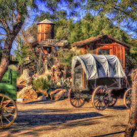 Old Tuscon by Dave Walters - Digital Art Places ( lumix fz200, colors, h d r, digital art, surreal, west,  )