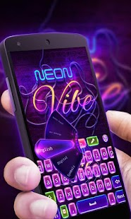 Neon Vibe GO Keyboard Theme - screenshot