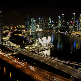 Singapore at Night by Steven Silman - Buildings & Architecture Other Exteriors