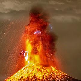 Volcano Wedhus Gembel by Sandy Tirta Adikusuma - Digital Art Places ( gembel, volcano, mountain, firemountain, merapi, wedhus, fire )