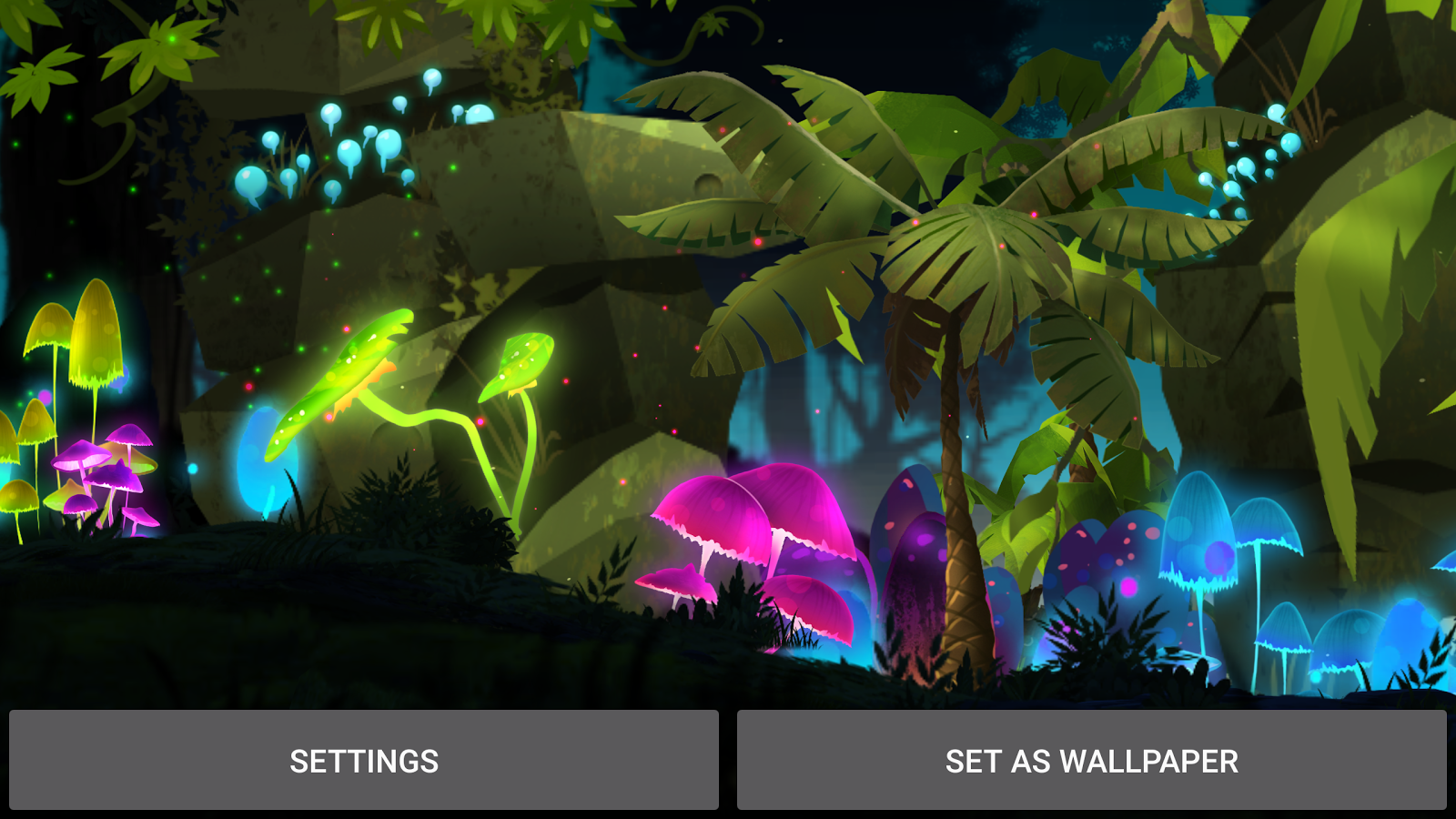 Mushroom Firefly Jungle LWP Screenshot 10