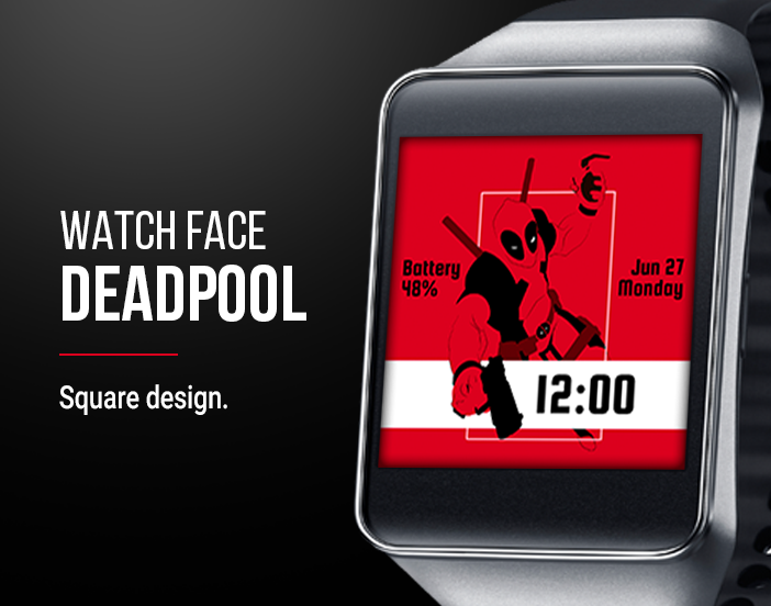 Deadpool Watch Face Screenshot 3