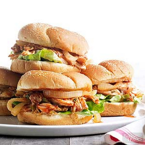 Pulled Roast Chicken Sandwiches