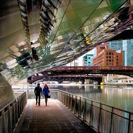 Riverwalk by Jon Kinney - City,  Street & Park  City Parks