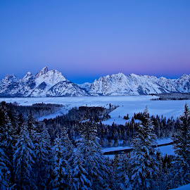 Grand Tetons by Teresa Hovis - Landscapes Mountains & Hills