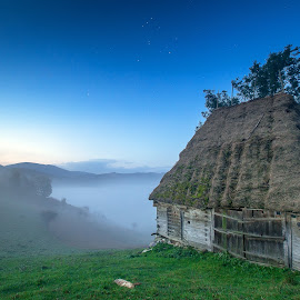 There is a house by Marius Turc - Landscapes Starscapes ( nature, stars, night, house, mist )