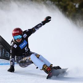 Ester Ledecka toward winn by Igor Martinšek - Sports & Fitness Snow Sports ( snowboard, fis snowboard world cup, slovenia, ester ledecka, rogla )