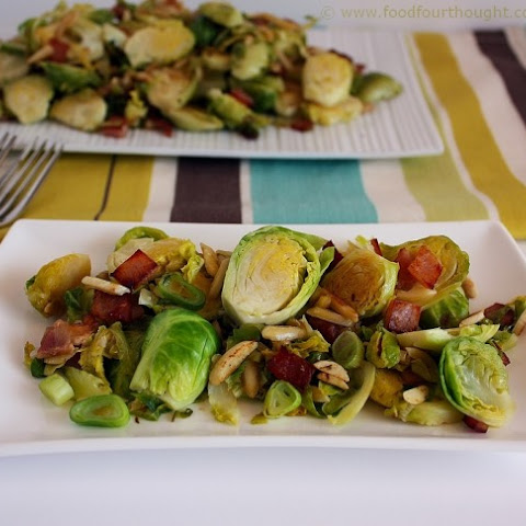 Sautéed Brussels Sprouts With Bacon And Almonds