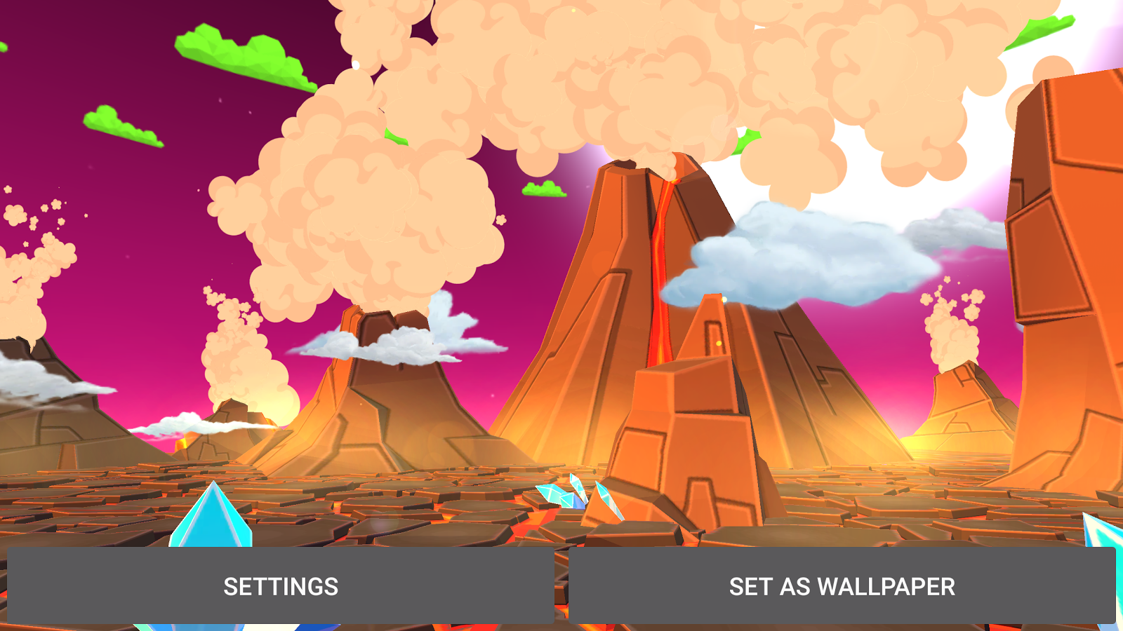 Volcano 3D Live Wallpaper Screenshot 15