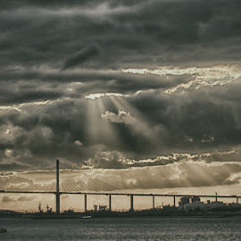 by Luke Walker - Landscapes Weather ( water, hdr, sunset, ray of light, cloudscape )