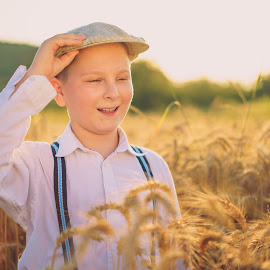 ''He he , grow food ...''    by Hurghis Vasile - Babies & Children Children Candids ( lights, nature, still life, boy, portrait )