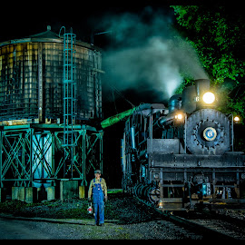 The Conductor by James Eickman - Transportation Trains
