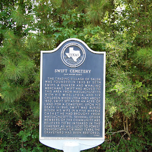 The trading village of Salem was founded in 1835 by Seth Swift. A Quaker and whaling merchant, Swift had moved to this area from Massachusetts with his wife, Lydia, and six children. When Lydia died ...