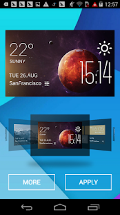 Mercury weather widget/clock - screenshot
