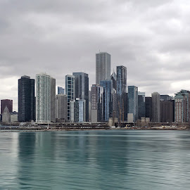 Chicago Skyline by John Goldenne - Instagram & Mobile iPhone ( skyline, iphoneography, iphoto edited, iphone, skyscape )