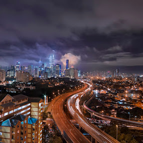 KL NightFall by Jasni Ulak - City,  Street & Park  Skylines