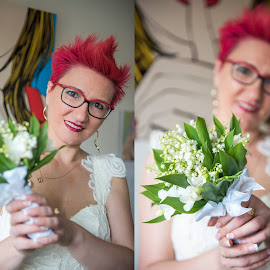 My wife by Eugen Constantinescu - Wedding Getting Ready ( sweet, red )