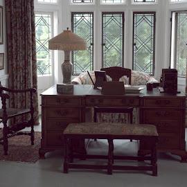 The Desk  by Lorraine D.  Heaney - Buildings & Architecture Public & Historical