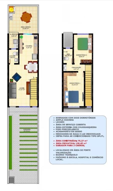 Sobrado com 2 dormitórios à venda, 75 m² por R$ 198.000 - Alto São Bento - Itapema/SC