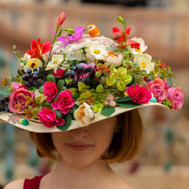 Spring hat by Viorel Stanciu - Artistic Objects Clothing & Accessories ( nobody, fashion, bamboo, block, jewelry, spring, heat, sun, blossom, hat, time, gear, ribbon, bonnet, sunhat, feminine, pink, decorated, head, flower, protection, girls, isolated, brim, flora, white, beads, handmade, bloom, narcissus, holiday, easter, classical, pattern, dress, headdress, weave, background, gardening, hot, summer, brown, shade, wear, floral,  )