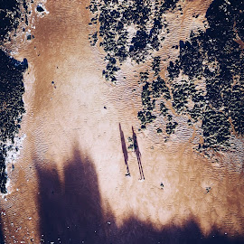 Shadows from above by Joshua Malcolm  - Landscapes Beaches