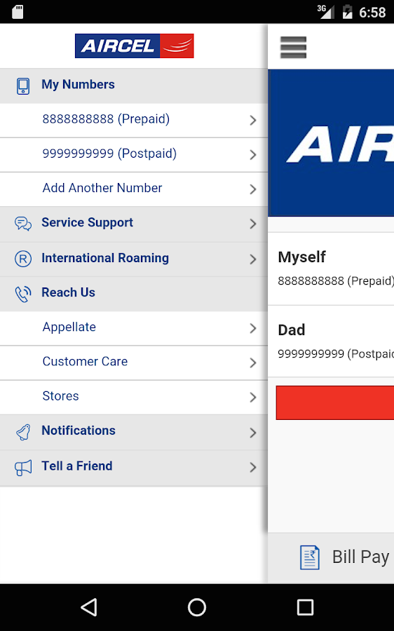 Aircel App Screenshot 9