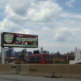 Chicago Skyline 6 by Yvonne Collins - City,  Street & Park  Street Scenes