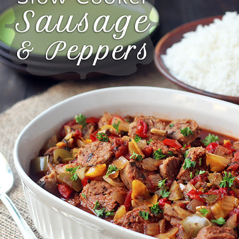 Slow Cooker Sausage and Peppers | Slow Cooker