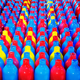 Bottles by Koh Chip Whye - Abstract Patterns