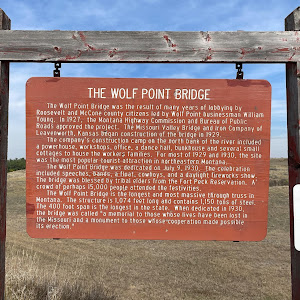 One naturally wonders how Wolf Point, the town just upriver from the bridge, got such an evocative name. The town's <a href=